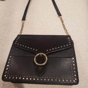 Black gold studded bag